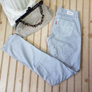 Levis 524 Too Superlow Skinny Pinstripe Jeans